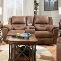 Southern Motion Pandora Double Recl. Console Sofa w/ Power Headrest - Item Number: 751-78P-Brown-751