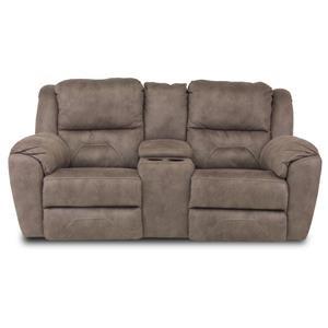 ComfortZone Pandora Double Recl. Console Sofa w/ Power Headrest