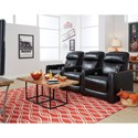 Southern Motion Premier Reclining Theater Seating with 3 Seats