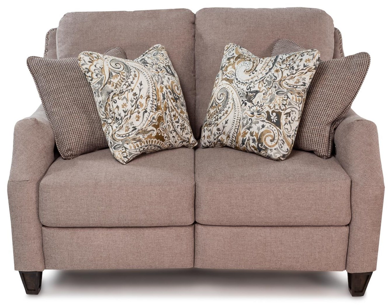 Power Loveseat with Pillows