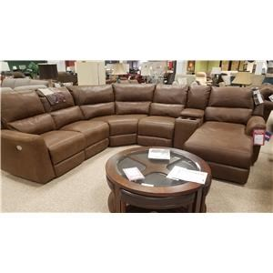 Southern Motion Producer 6-Piece Power Reclining Sectional with Power