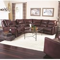 Southern Motion Producer Reclining Sofa with 5 Seats (no chaise) - Item Number: 716-07+46+92+84+92+08-716-Burg