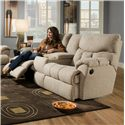 Southern Motion Re-Fueler  Powerized Console Sofa  - Item Number: 813-28 PWR