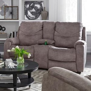Southern Motion Royal Flush Double Recl Console Sofa w/ Pwr Headrests