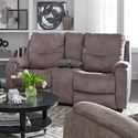 Southern Motion Royal Flush Double Reclining Console Sofa - Item Number: 733-28-147-09