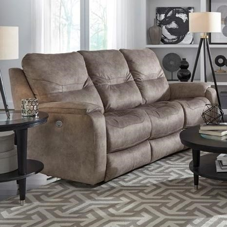 Dbl Reclining Sofa w/ Pwr Headrests & Lumbar