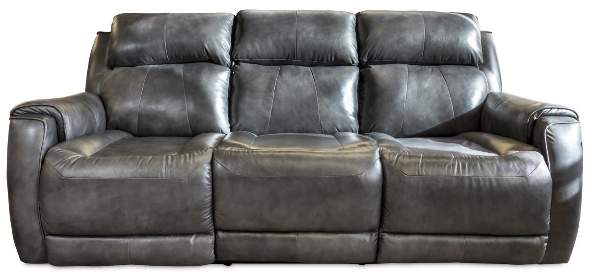 Santino - Wildside Power Double Reclining Sofa by Design to Recline at Rotmans