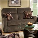 Belfort Motion Parker Double Reclining Loveseat for Contemporary Family Rooms - Loveseat Shown May Not Represent Exact Features Indicated