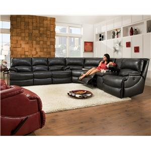 Belfort Motion Carson Reclining Sectional Sofa