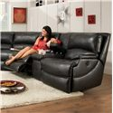 Southern Motion Shazam  Power Reclining Console Sofa  - Item Number: 886-28 PWR