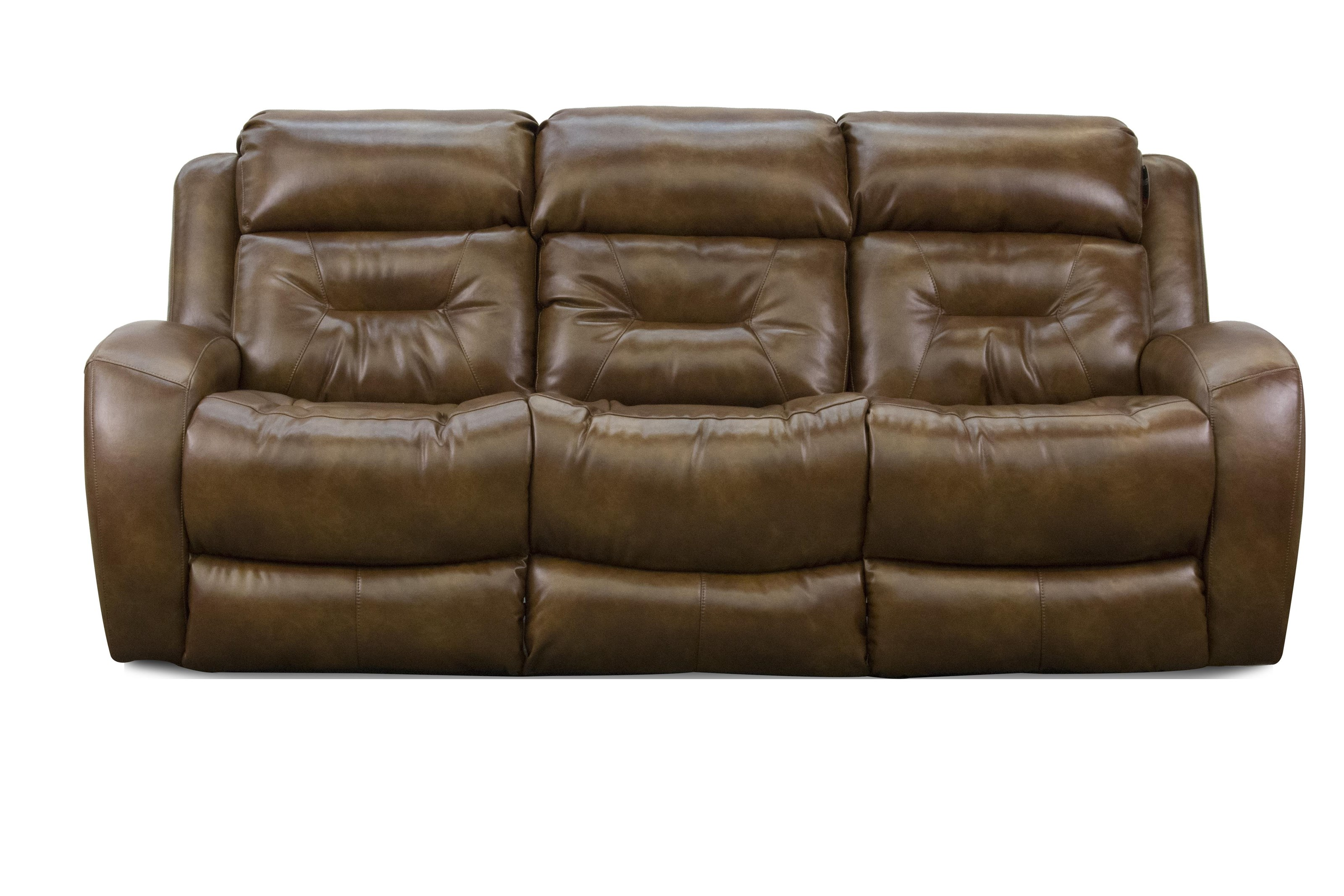 ComfortZone Showcase Recline Sofa w/ Pwr Headrest & Drop Table - Item Number: 17316-PPDRS