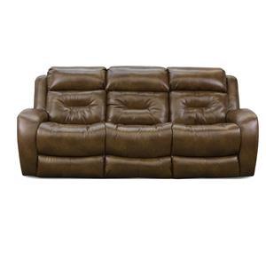 ComfortZone Showcase Recline Sofa w/ Pwr Headrest & Drop Table