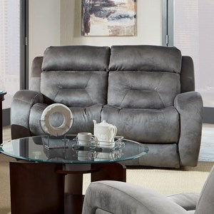 Southern Motion Showcase Double Reclining Loveseat with Pwr Headrest