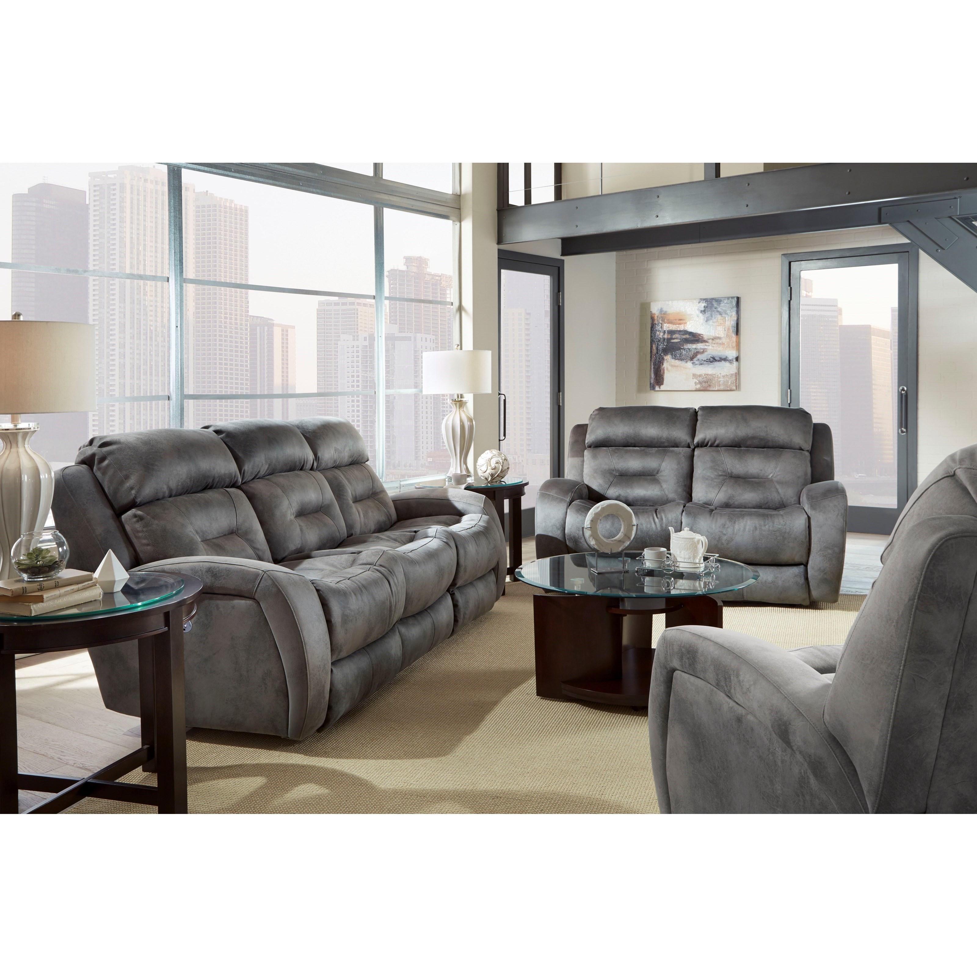 Southern Living Furniture Collection: Southern Motion Showcase 316-61P Double Reclining Sofa
