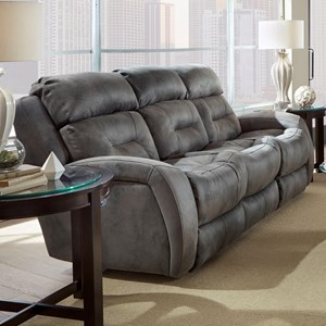 Southern Motion Showcase Recline Sofa w/ Pwr Headrest & Drop Table