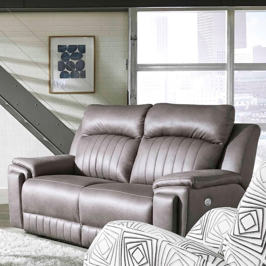 Picture of: Southern Motion Silver Screen 743 21 Contemporary Double Reclining Loveseat With Hidden Arm Cup Holders Dunk Bright Furniture Reclining Loveseats