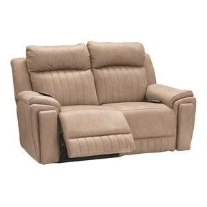 Power Loveseat w/Powe Headrest, Heat, Massag