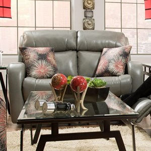 Southern Motion Siri Double Reclining Loveseat with Pillows