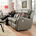 Southern Motion Siri Double Reclining Sofa with Pillows - Item Number: 571-32-243-14