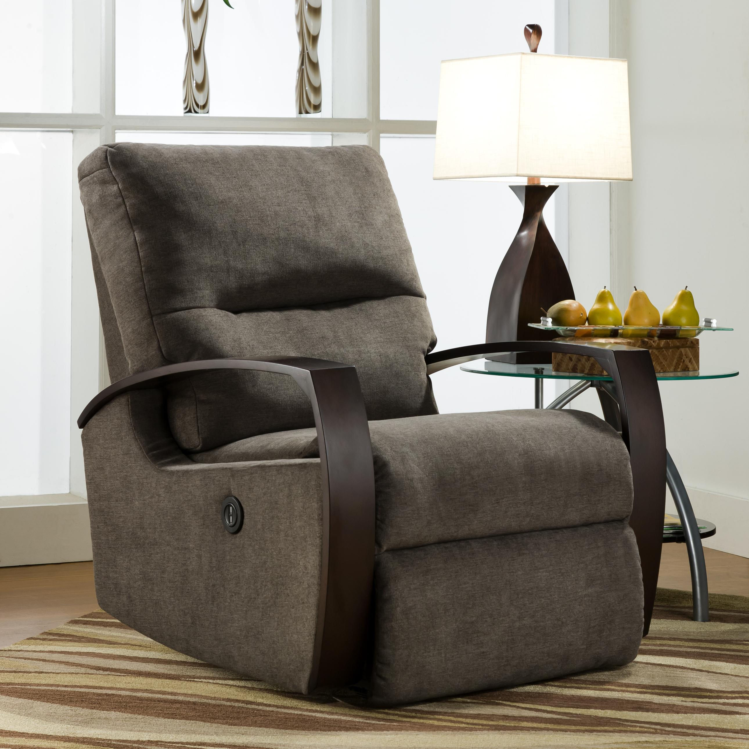 Wood Arm Recliner ~ Southern motion recliners rocker recliner with wooden arms