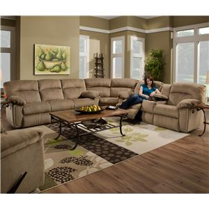 Southern Motion Splendor Collection 591 Reclining Sectional