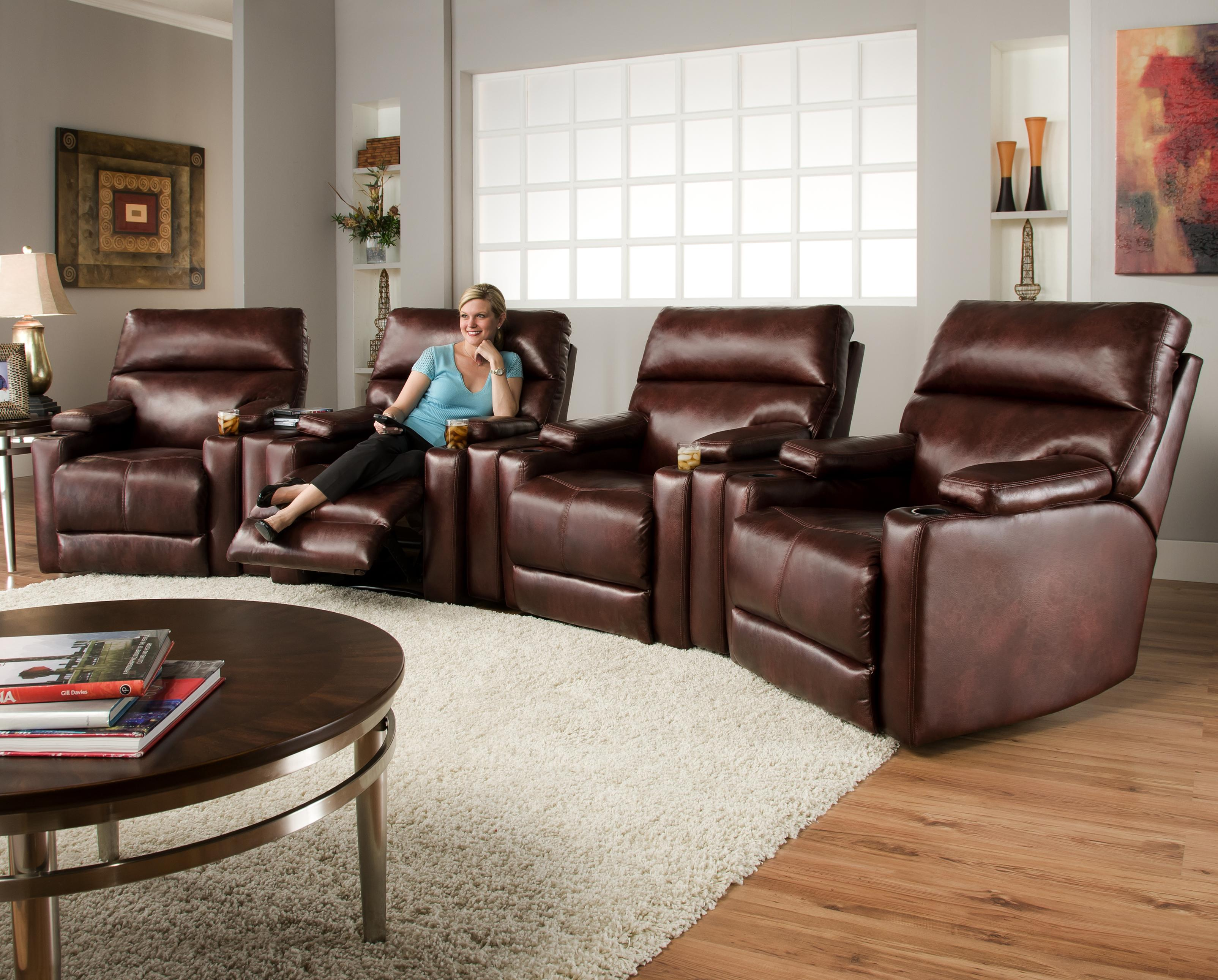 theater living room furniture southern motion theater seating with 4 lay 14495