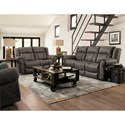 Southern Motion Titan Casual Double Reclining Power Headrest Sofa with SoCozi Technology