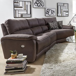 Southern Motion Top Secret Three and 1/2 Seat Sectional Sofa