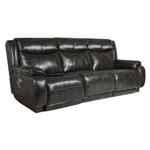 Southern Motion Velocity Reclining Sofa with <b>Power</b> Headrest