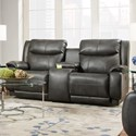 Southern Motion Velocity Reclining Console Sofa with <b>Power</b> Hea - Item Number: 875-78P-249-14