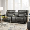 Southern Motion Velocity Reclining Console Sofa with Power Headrest - Item Number: 875-78P-275-14