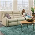 Belfort Motion Wonder POWER Double Reclining Sofa without Pillows - Pillows Shown But Not Included