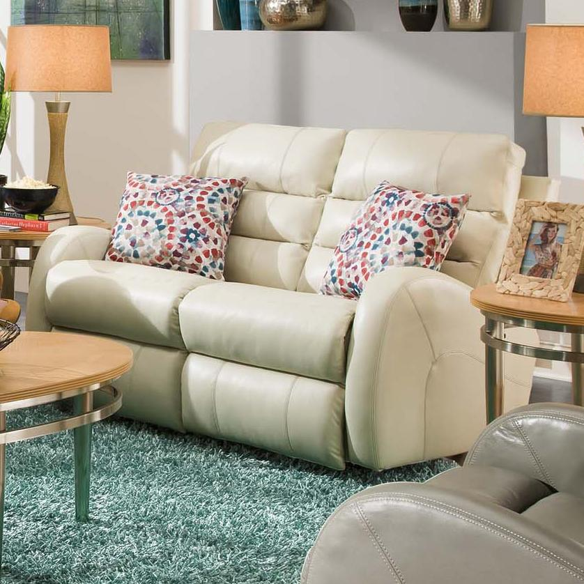 Wonder Power Double Reclining Rocking Loveseat With 2 Pillows By Southern Motion Wolf Furniture