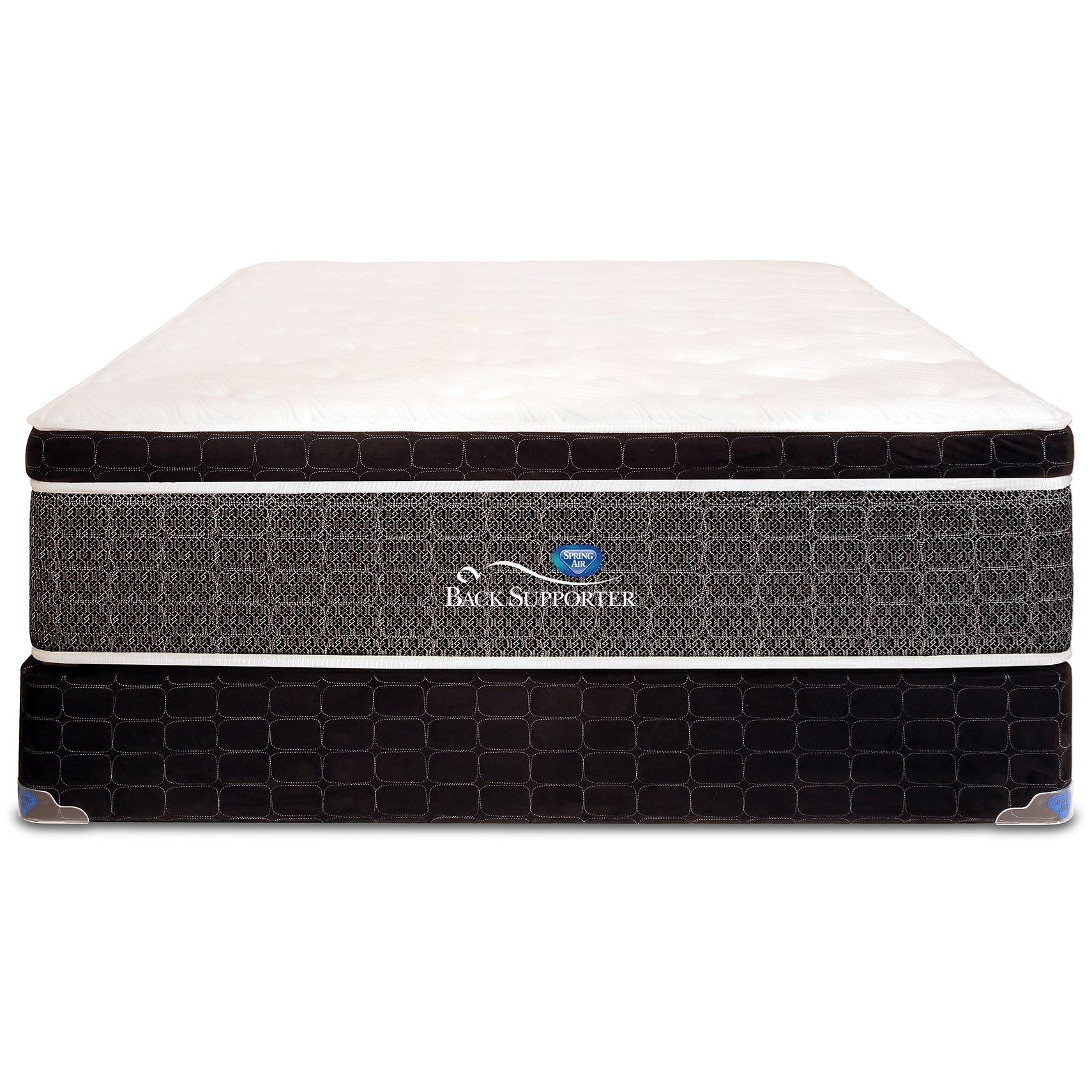Twin XL Euro Top Pocketed Coil Mattress Set