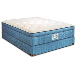 Spring Air Sleep Sense King Pillow Top Mattress and Eco-Wood Base