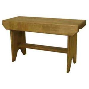 Solid Pine Bucket Bench
