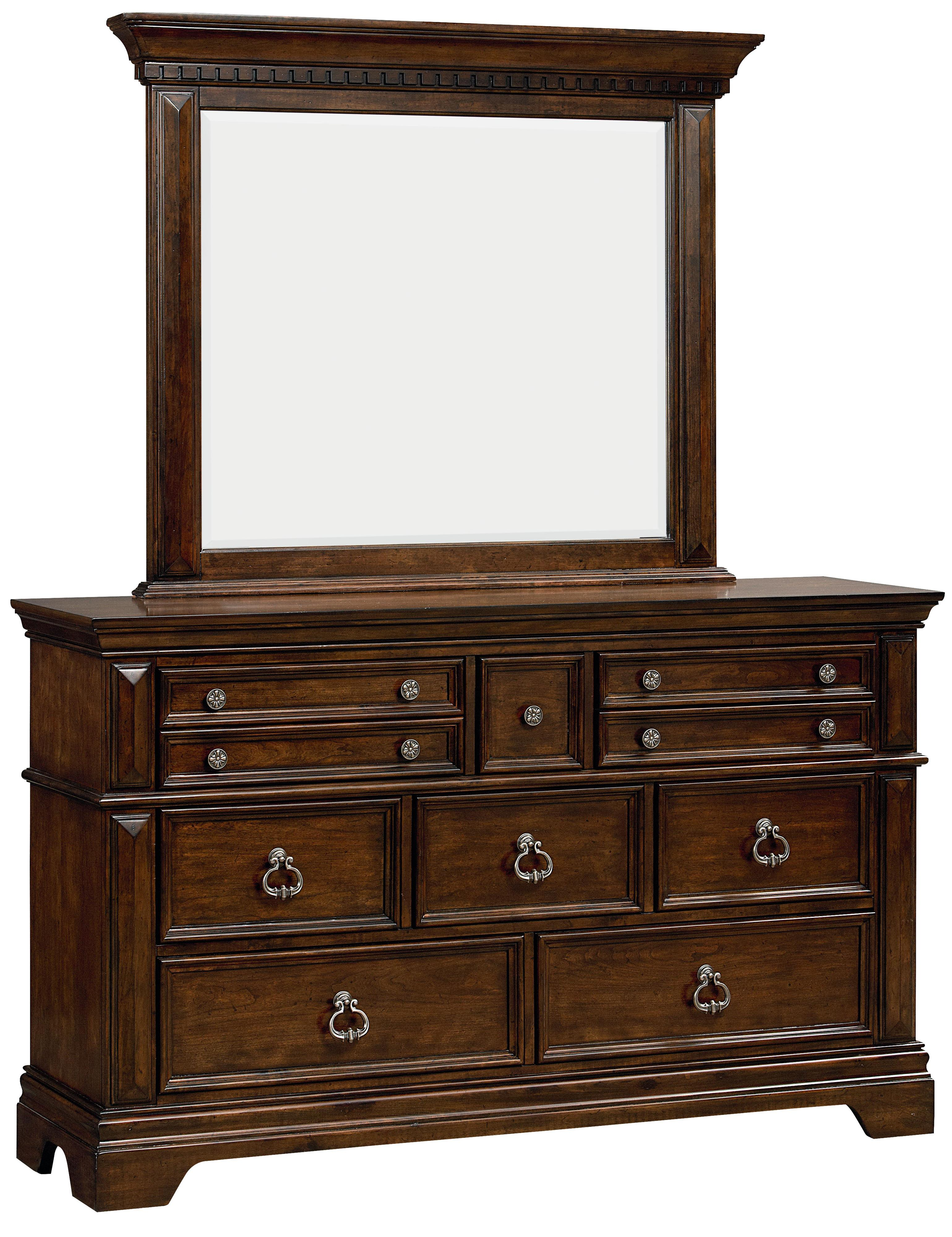 Standard Furniture Charleston Dresser and Mirror Combination - Item Number: 96009+96008