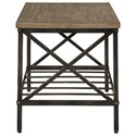 Zenith Brendon Industrial Occasional Table Group with Metal Ladder Shelves