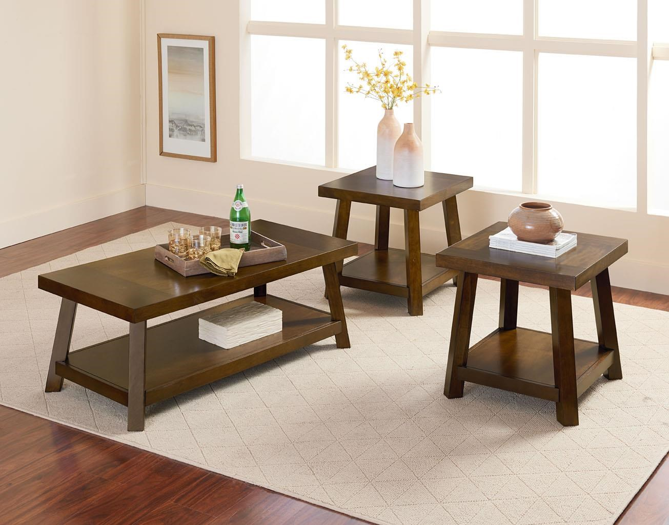 Standard Furniture Omaha Brown 3 Pack Occasional Tables - Item Number: STAND-28993