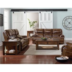 Standard Furniture Chisholm Lthr Recl Sofa & Lthr Recl Loveseat