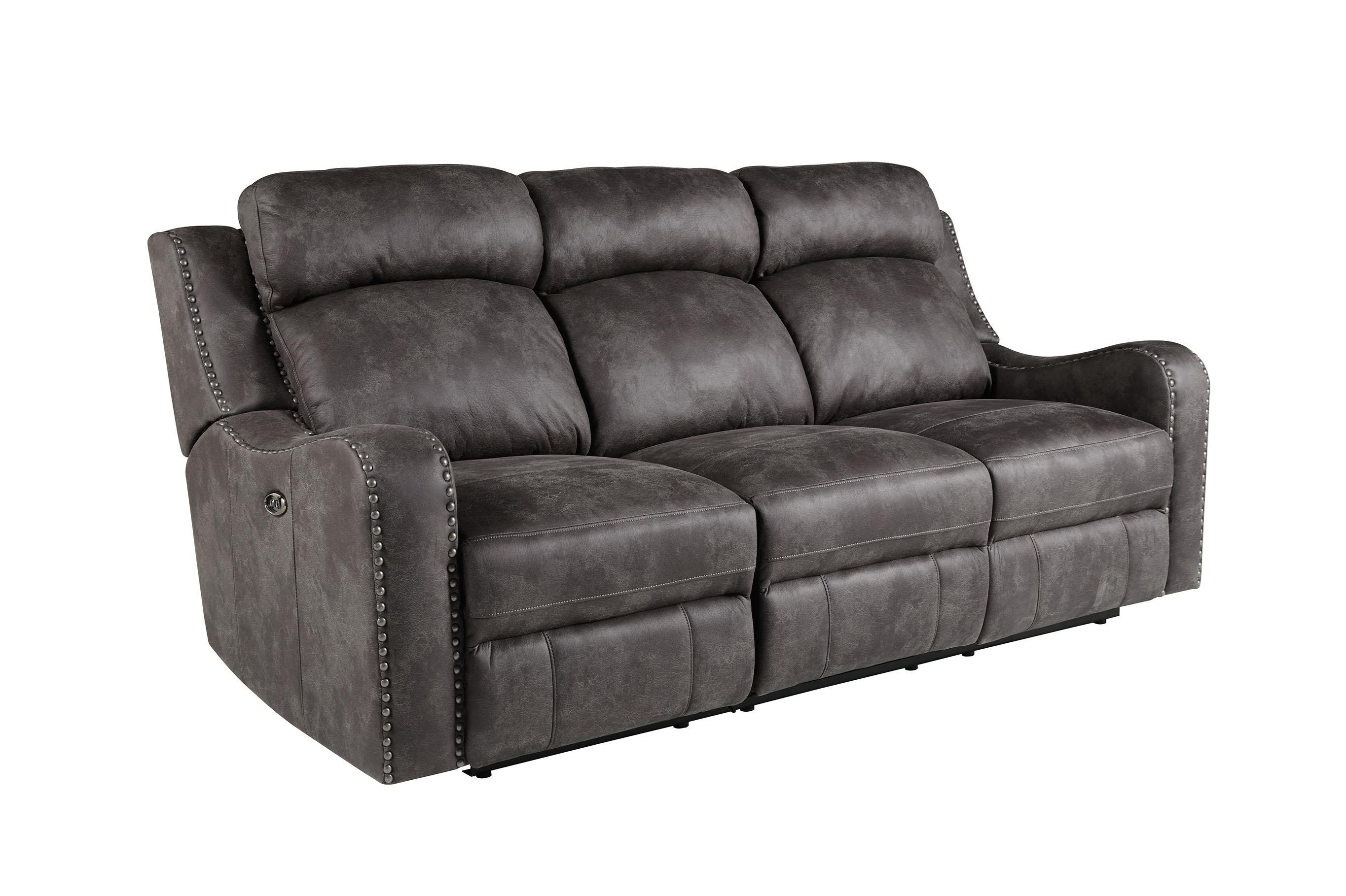 Standard Furniture Bankston Grey Reclining Sofa - Item Number: 4148393