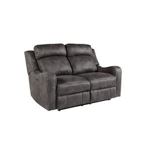 Standard Furniture Bankston Grey Reclining Loveseat