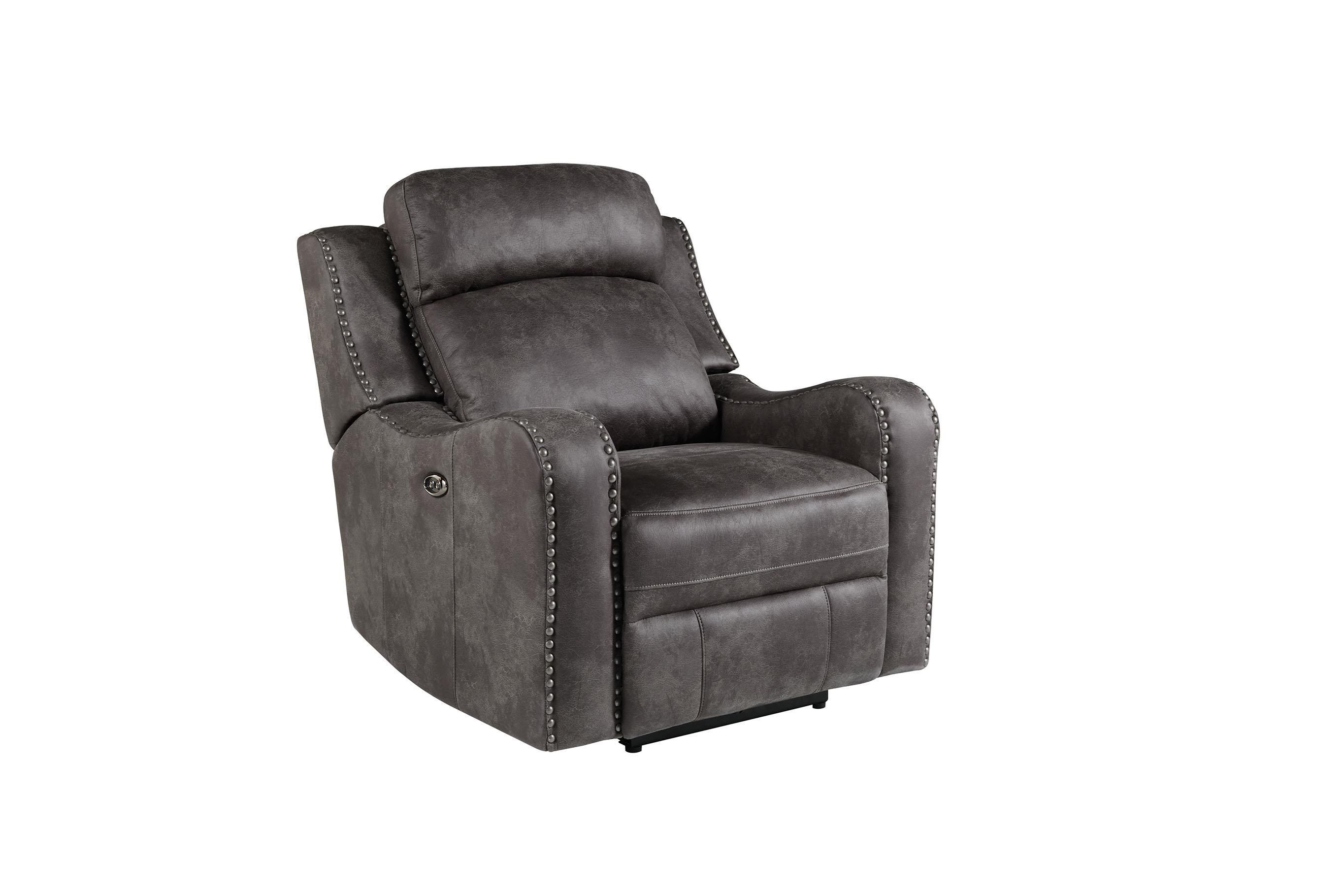 Standard Furniture Bankston Grey Glider Recliner - Item Number: 4148833
