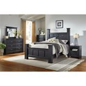 Standard Furniture Modesto Transitional Poster King Bed with Oversized Square Posts