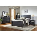 Standard Furniture Modesto Casual Mansion Queen Bed with Thick Horizontal Slats