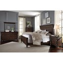 Zenith Oxford Transitional King Bed with Split Turned Pilasters