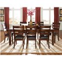 Standard Furniture Abaco Dining Side Chair with Upholstered Seat - Shown with Rectangular Dining Table