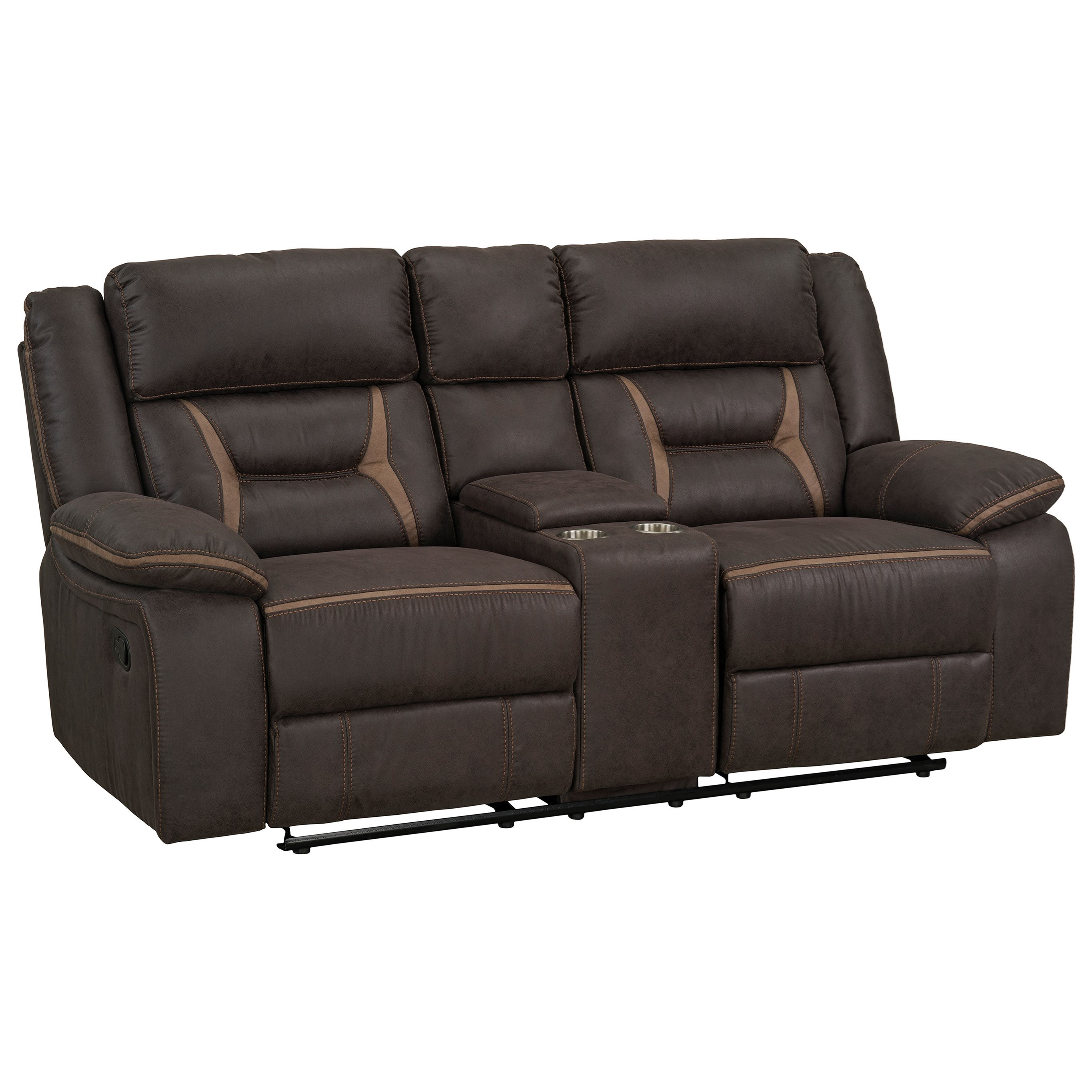 Manual Glider Reclining Loveseat