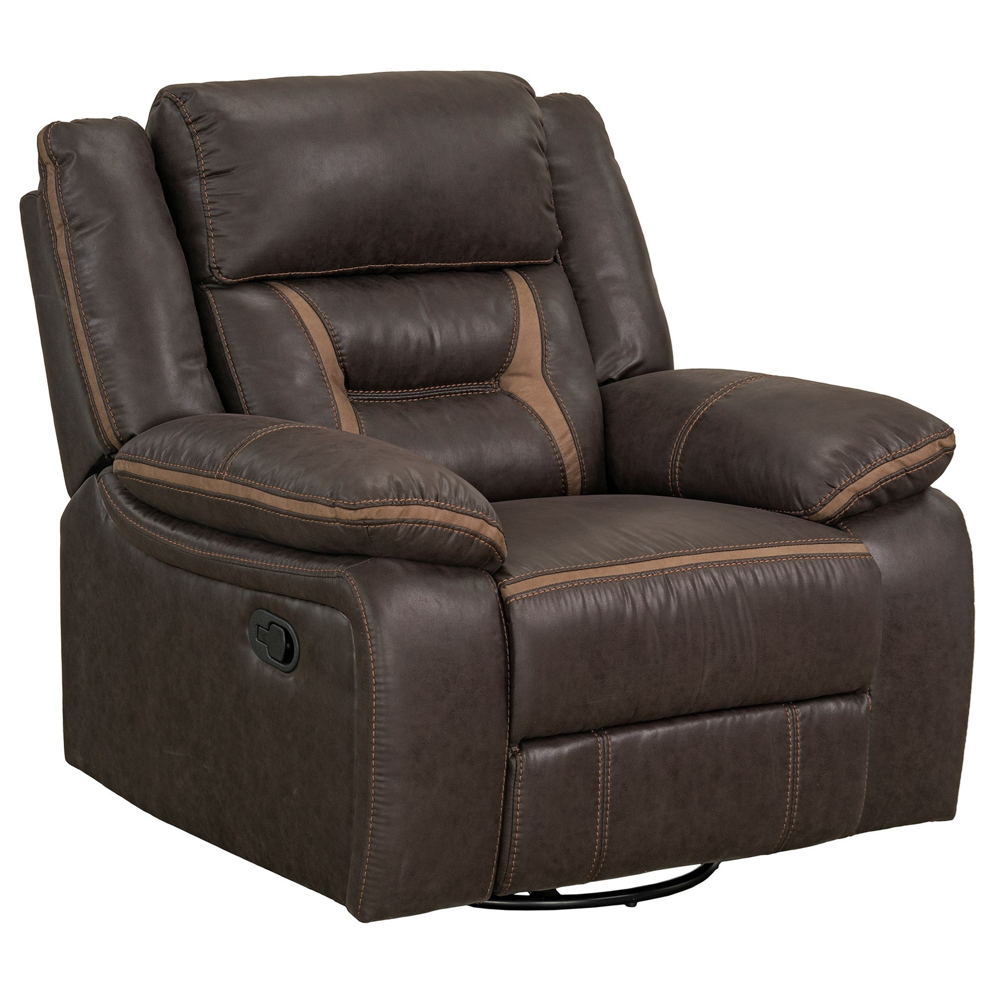 Acropolis Manual Glider Swivel Recliner by Standard Furniture at Beds N Stuff