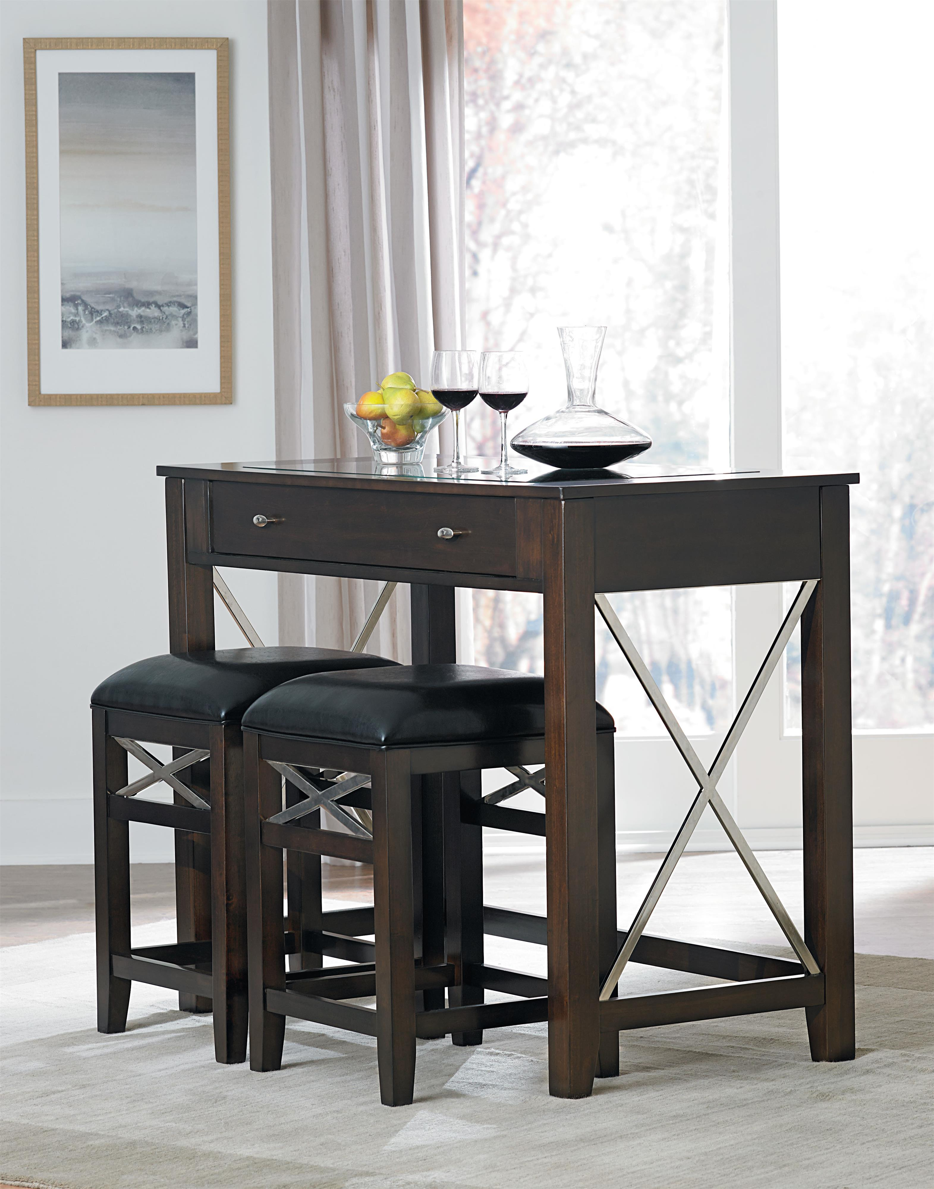Standard Furniture Alexander Wine Bar with Stools - Item Number: 17401+2x17404
